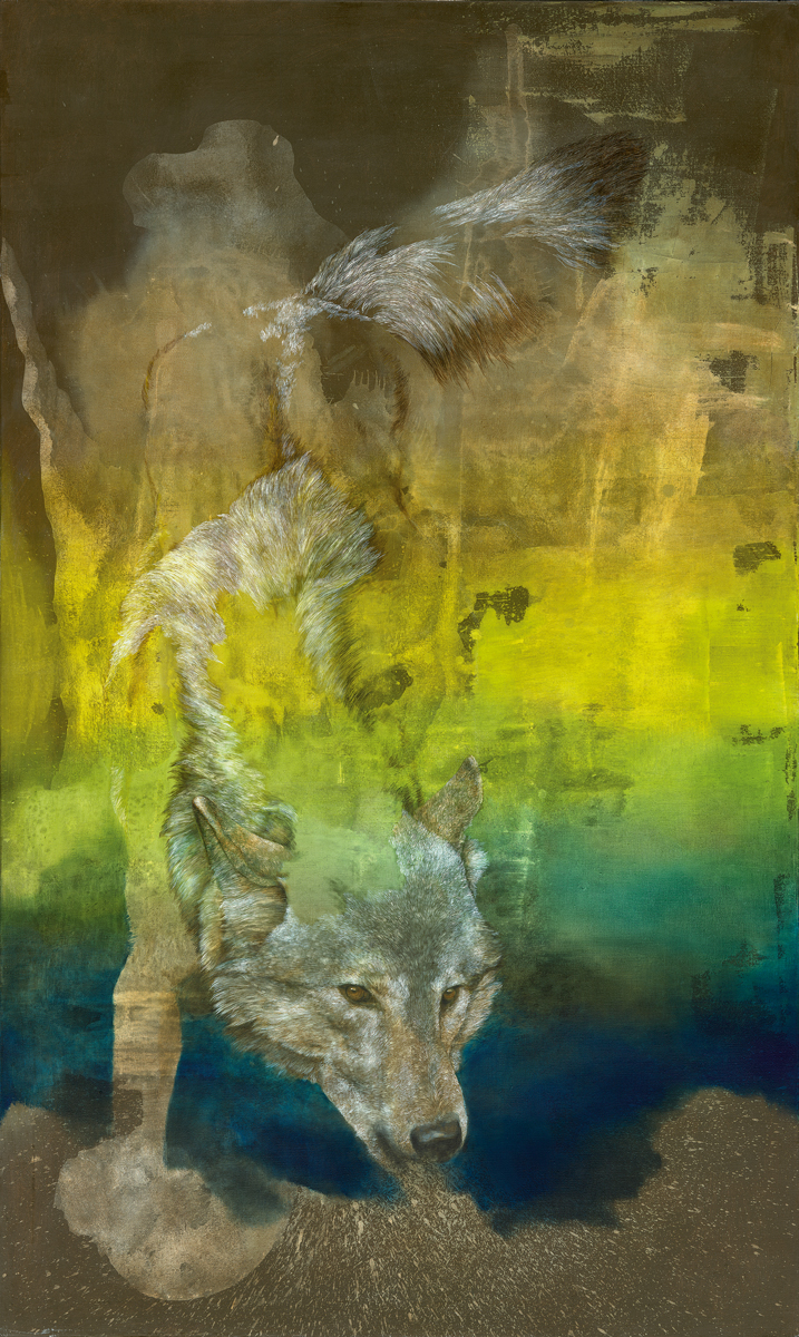 wolf (spectre), 2017, 150 x 90 cm, oil on canvas