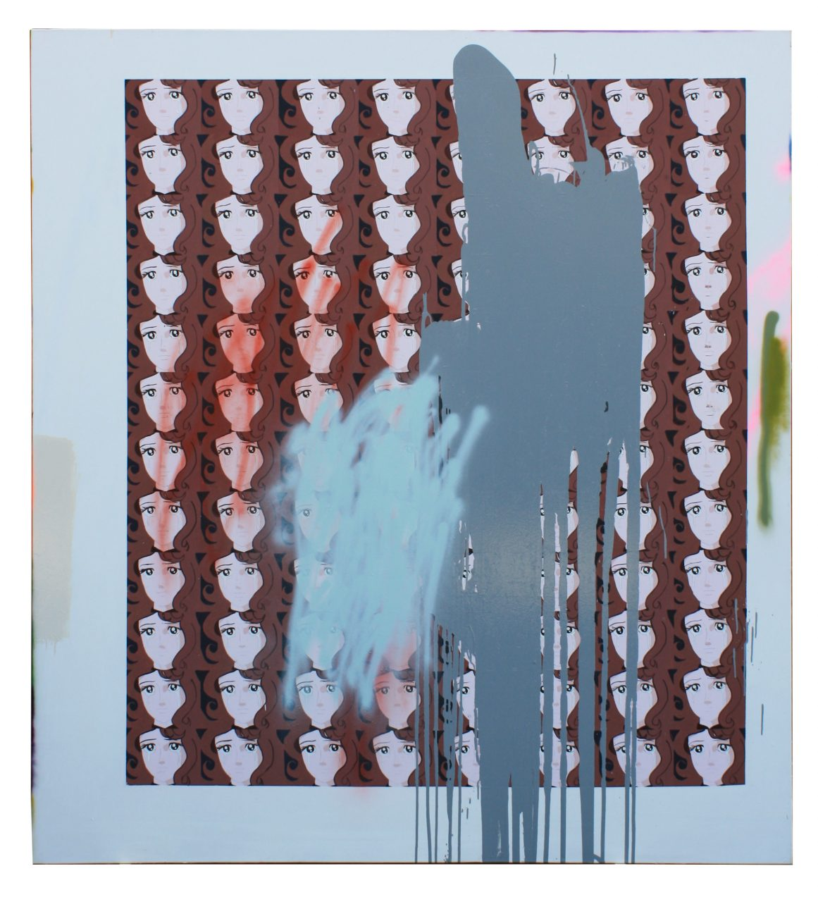 """""""Joan Randall"""", 220 x 200 cm, oil, acrylic, gloss paint & spray paint on canvas, 2015"""