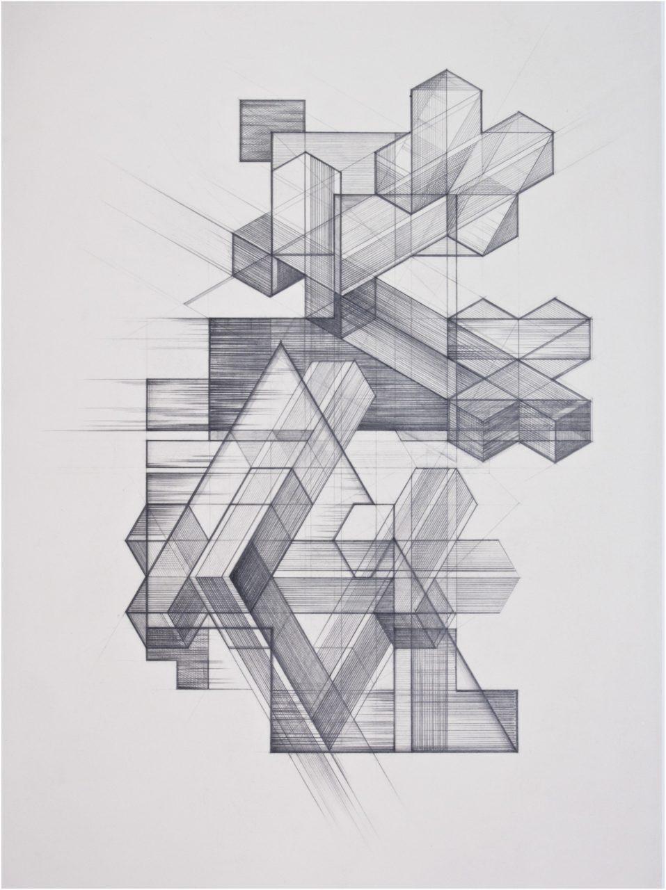 CLUSTER, Zeichnung, Bleistift