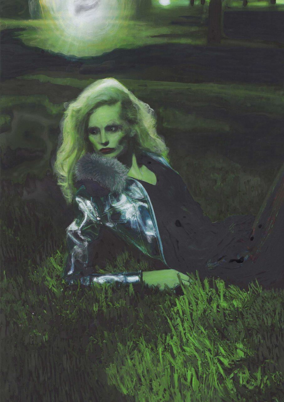 2017, acrylic on print, 29 x 21 cm