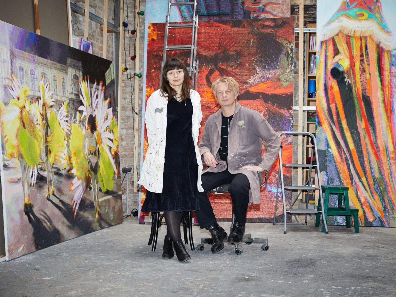 Römer + Römer in their studio, Photo: Marcus Witte, 2017
