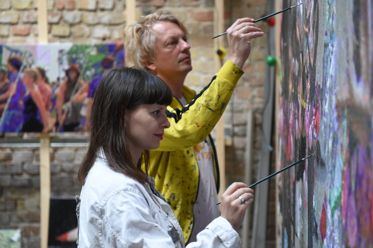 Römer + Römer painting. Photo: Uruc Ucta, 2017