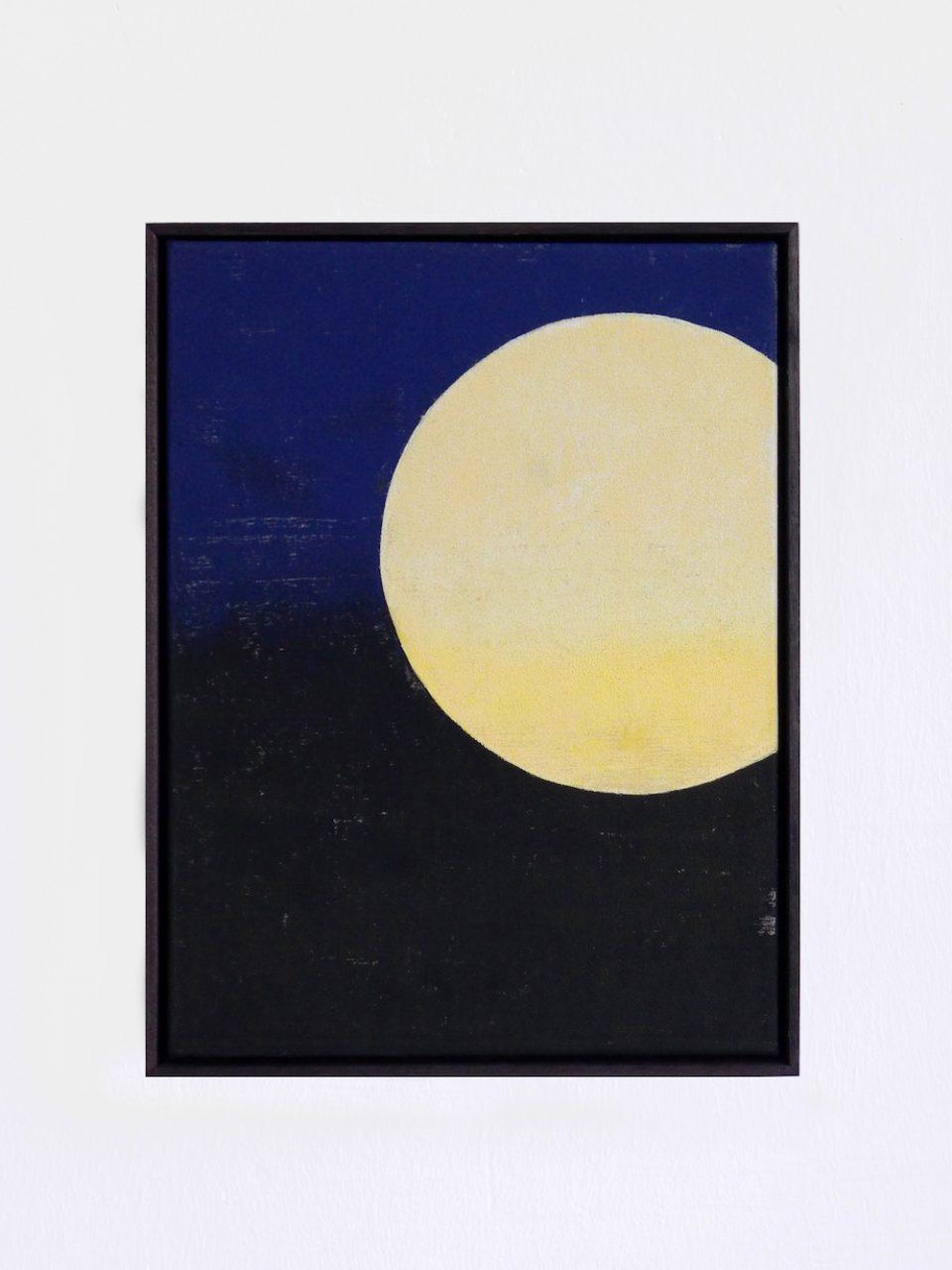 Gelber Mond, 2017, 30 x 40 cm, stencilprint on canvas