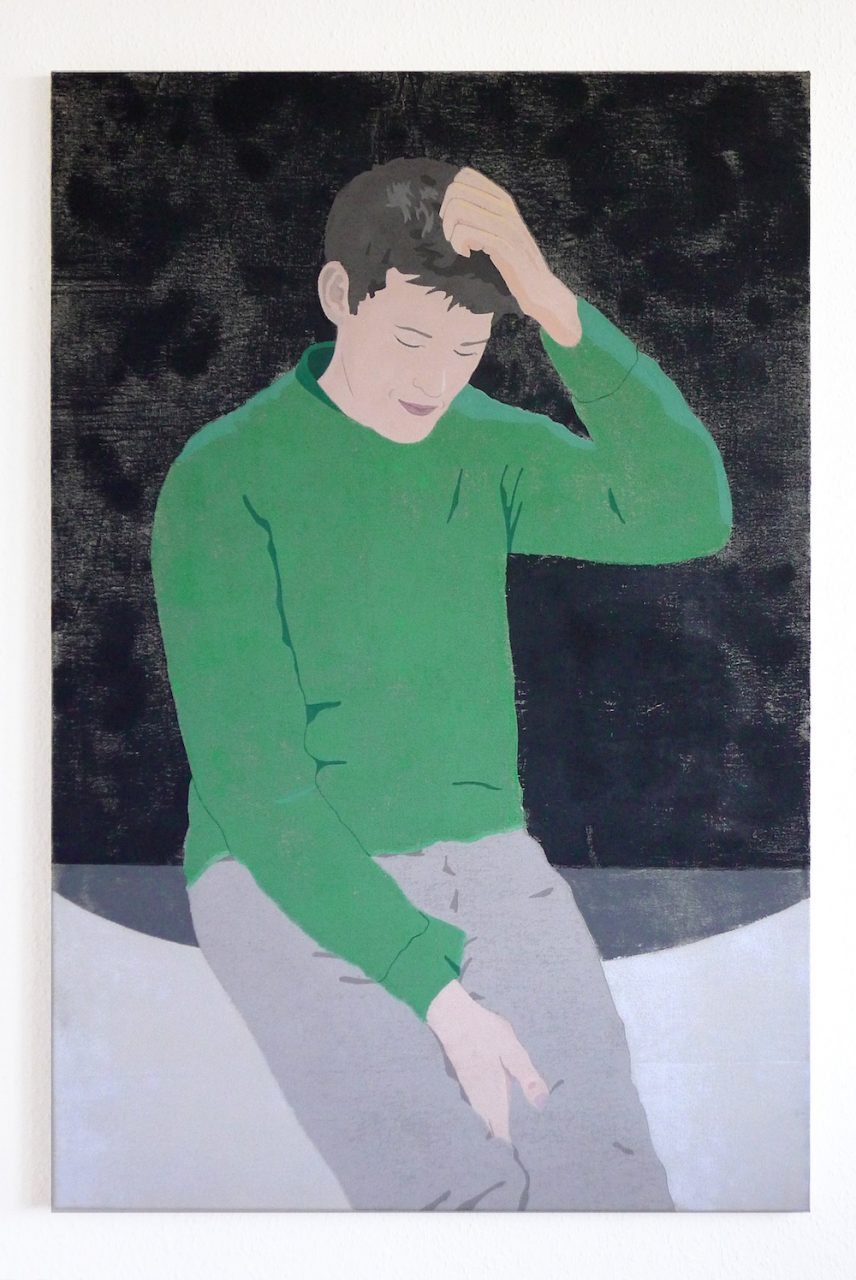 Peter, 2017, 80 x 120 cm, stencilprint on canvas