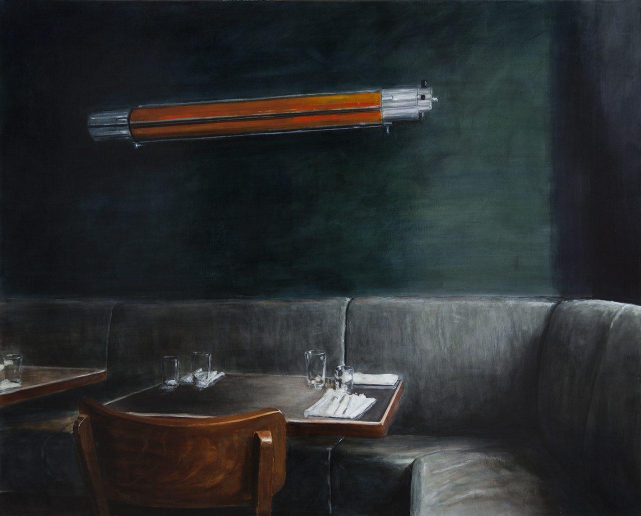 am licht, 2017, öl/leinwand, 140 x 160 cm