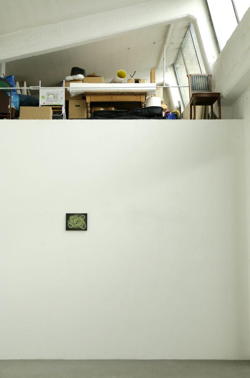 Auf der Sonne muss man nicht aufräumen, 2017, 20 x 30 cm, Studio view