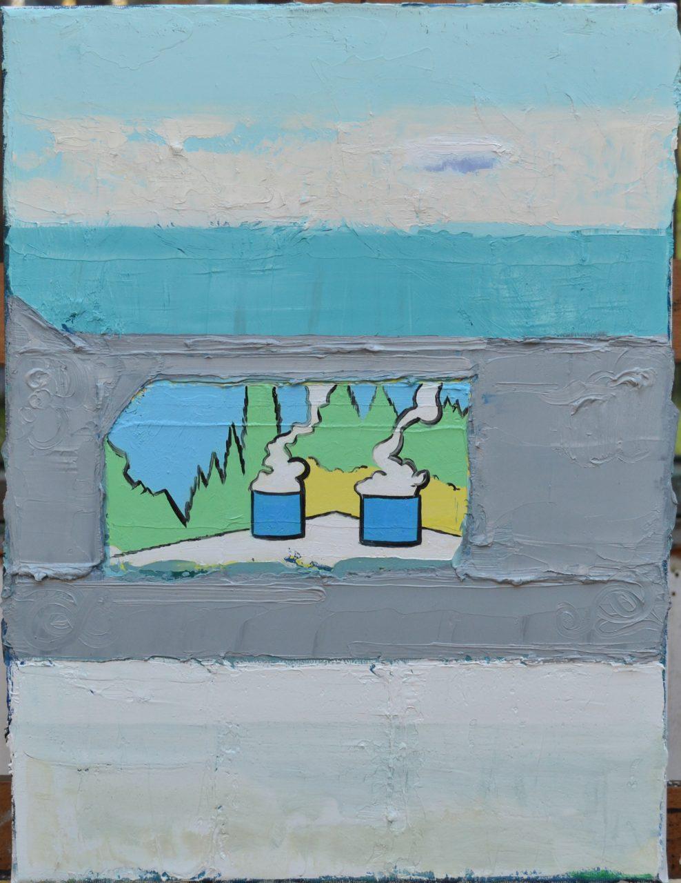 Landscape II, 2017, oil on linen, size: 30x40cm