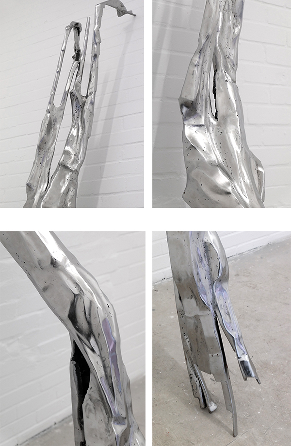 """Teuthida"", 2017, Detail, Eisen geschweisst, 280 x 65 x 30 cm"