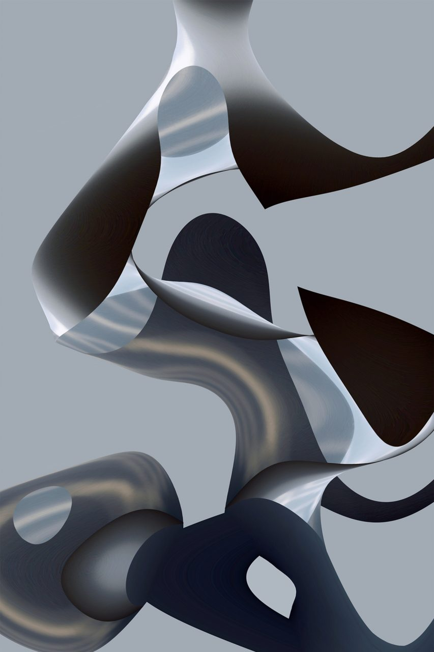 Formation im Raum, Experimental Fine Art Photography, Farbpigment auf Aludibond, matt, 2014, 120 x 80 cm, Unikat