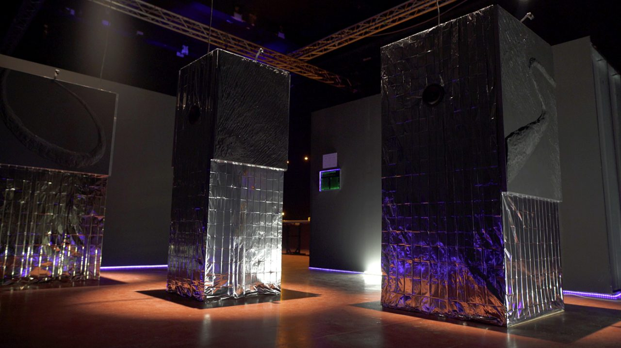 NEW EUROPE sound installation set up, 2017 Touch Me Festival Zagreb