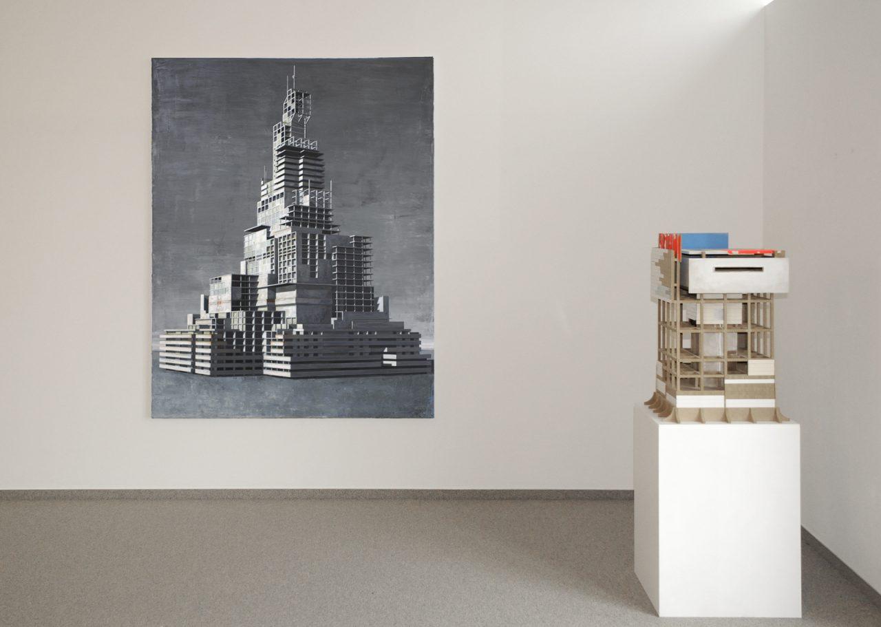 Babylon Konstrukt 190x150cm, 2015 / Model VII/10, 2010