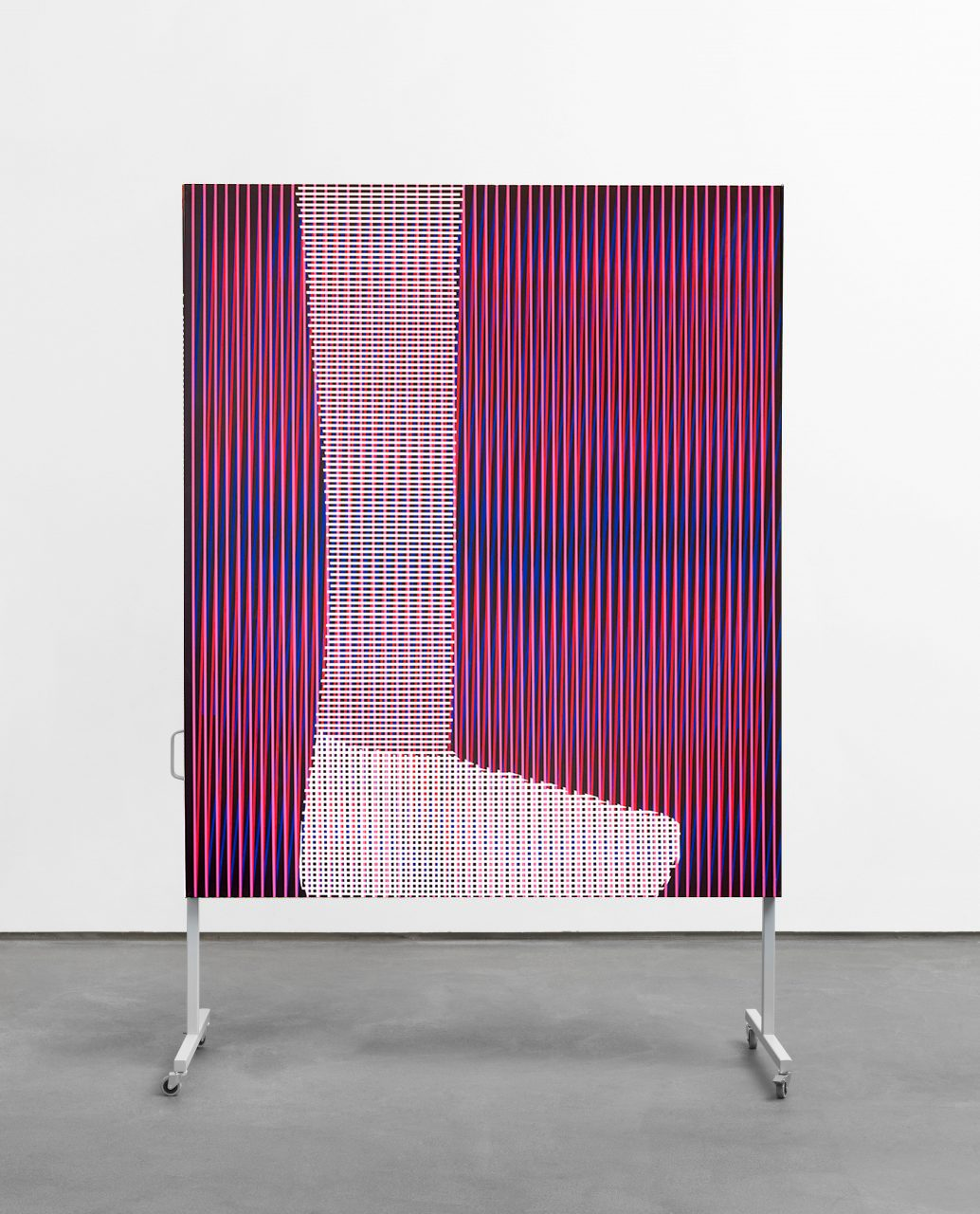 untitled (body color space), 2018 /// acrylic on canvas on metal rack /// 245 x 155 x 60 cm
