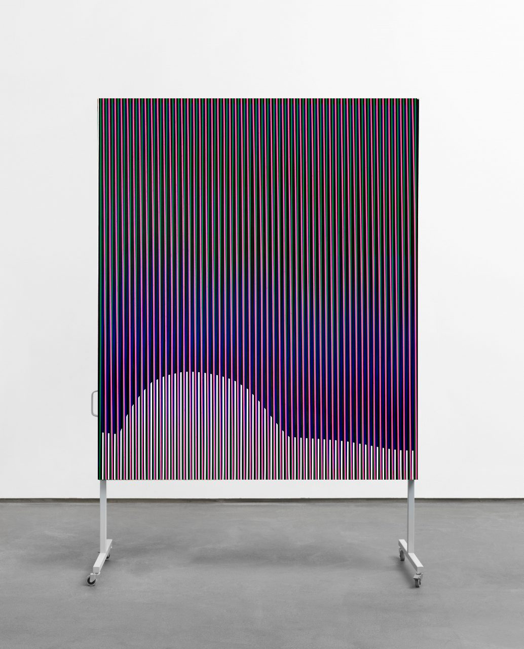 untitled (body color space), 2018 /// acrylic on canvas on metal display /// 245 x 155 x 60 cm