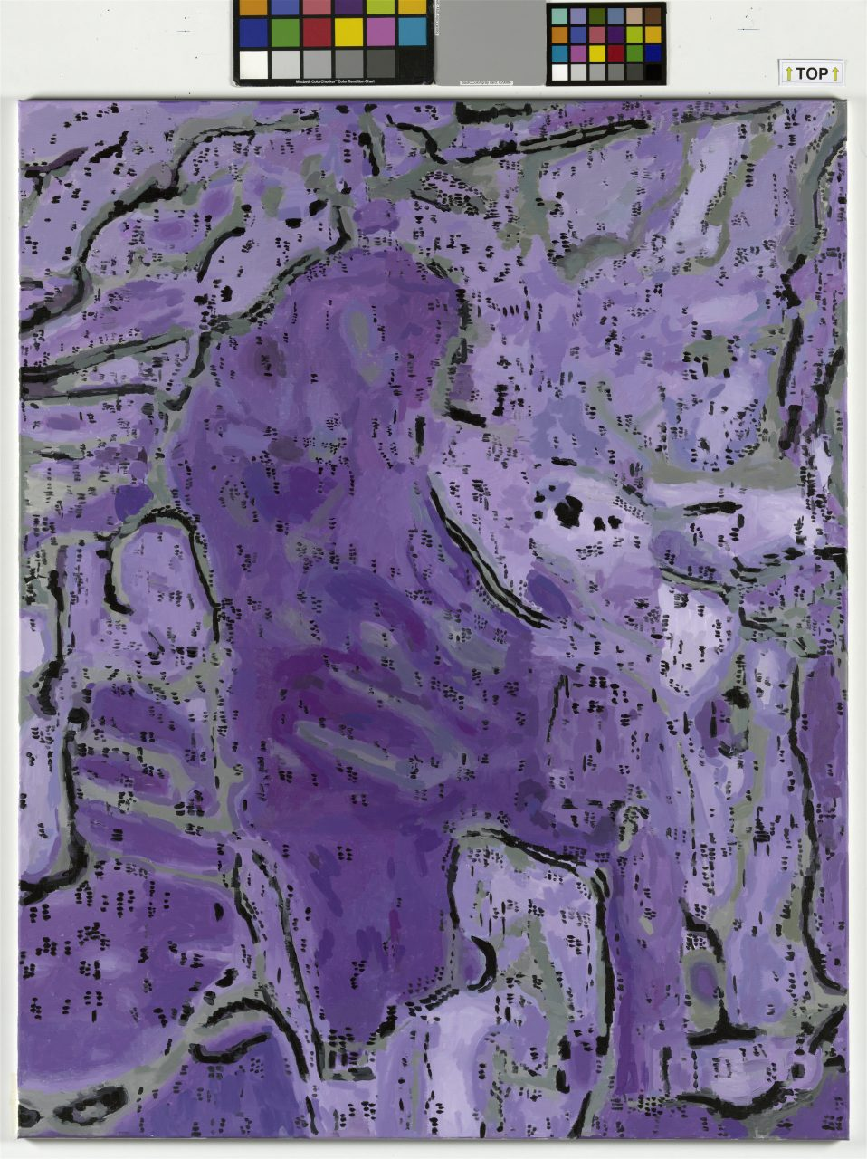 Figure Pale Purple, 170x140cm, acrylic on canvas, Foto:J.Littkemnann