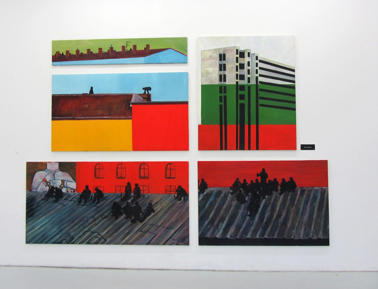 The Eastern block, 2013, five paintings, oil on canvas