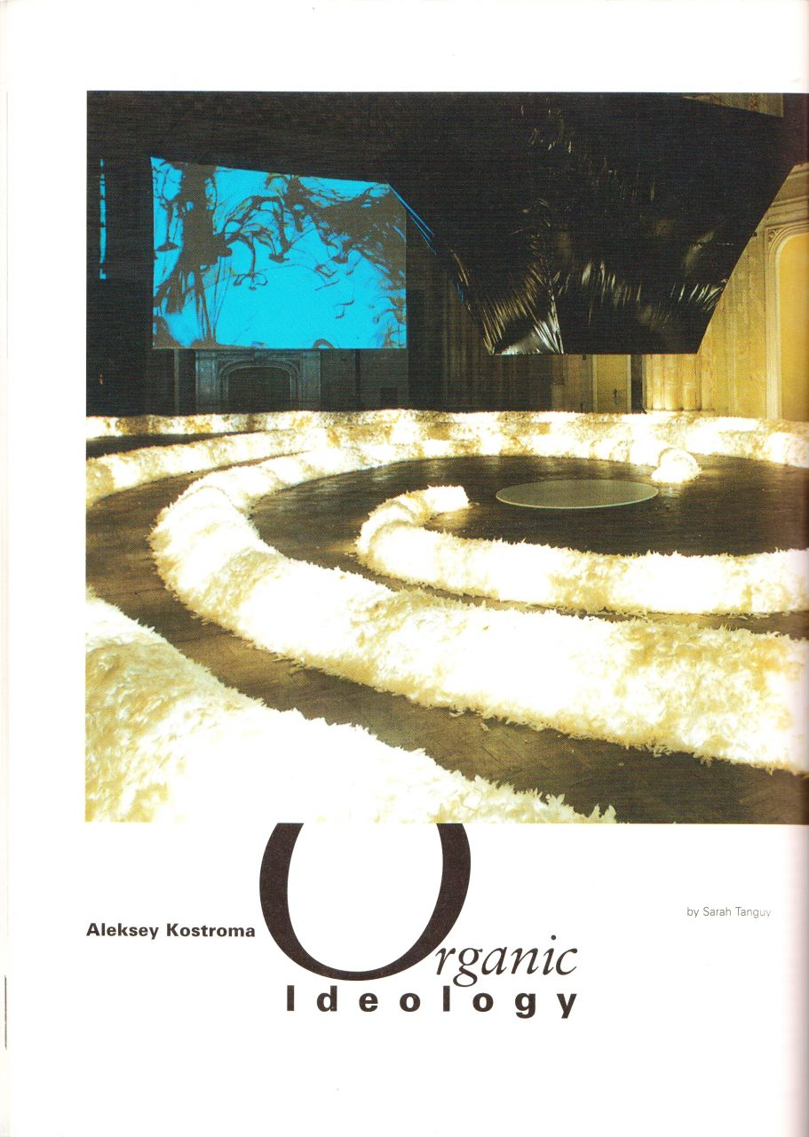 Alexei Kostroma. ORGANIC IDEOLOGY | article by Sarah Tanguy | SCULPTURE magazine, July/August 2000, Vol. 19 No. 6, USA image
