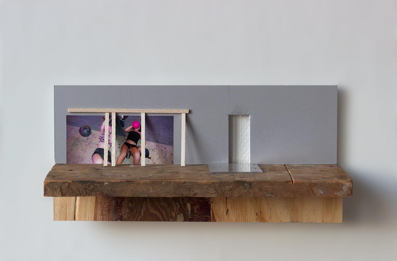 Balloons 2018 - 13.5 x 40 x 16cm, photograph, foamcore, wood, plexiglas, balsa