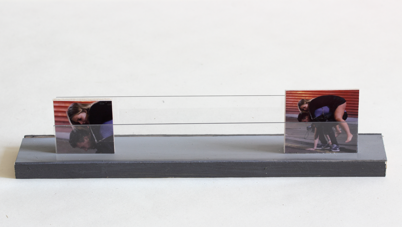 Passage 2017 - 6.7 x 4.8 x 28cm, triplex, photographs, perspex
