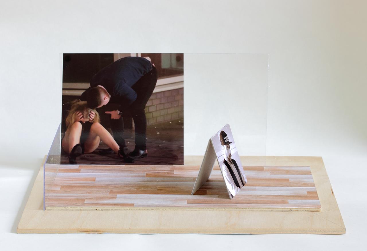 Scene 2017 - 15 x 34 x 23.5cm, photographs, paper, duplex, perspex, card
