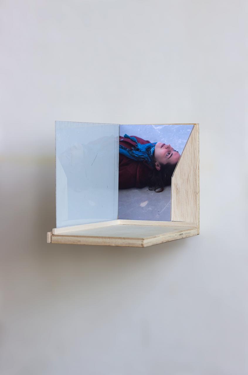 Up 2018 - 12 x 10 x 18.5cm, plexiglas, photograph, triplex, balsa