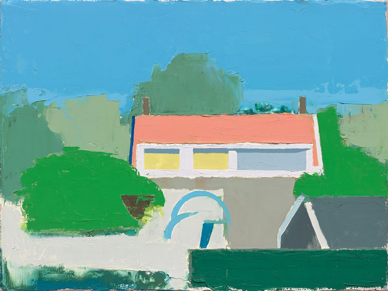 Dutch Dike House II, 2015/2017 Oil on linen, size: 30x40 cm