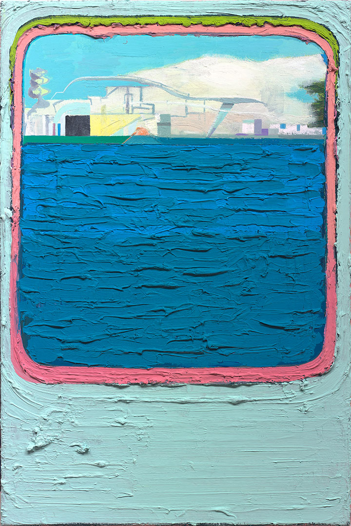 Fast Ferry To Rotterdam, 2015. Oil on canvas, size: 40x60cm