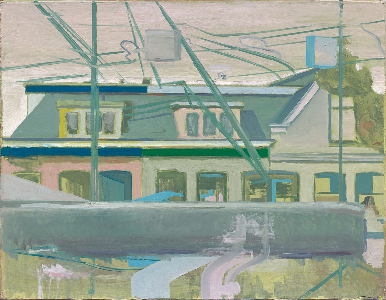 Dutch houses along the railroad tracks 2009, Size: 35 x 44 cm.