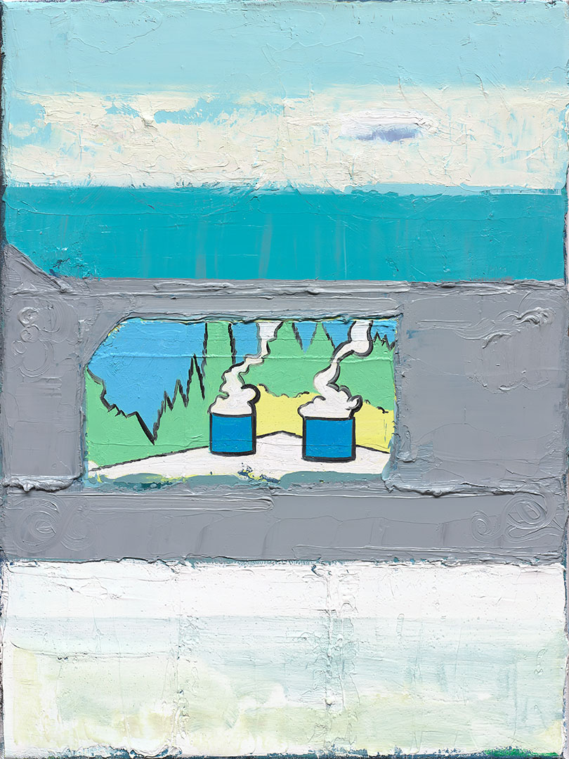 Landscape II, 2017, oil on linen, size: 30x40cm