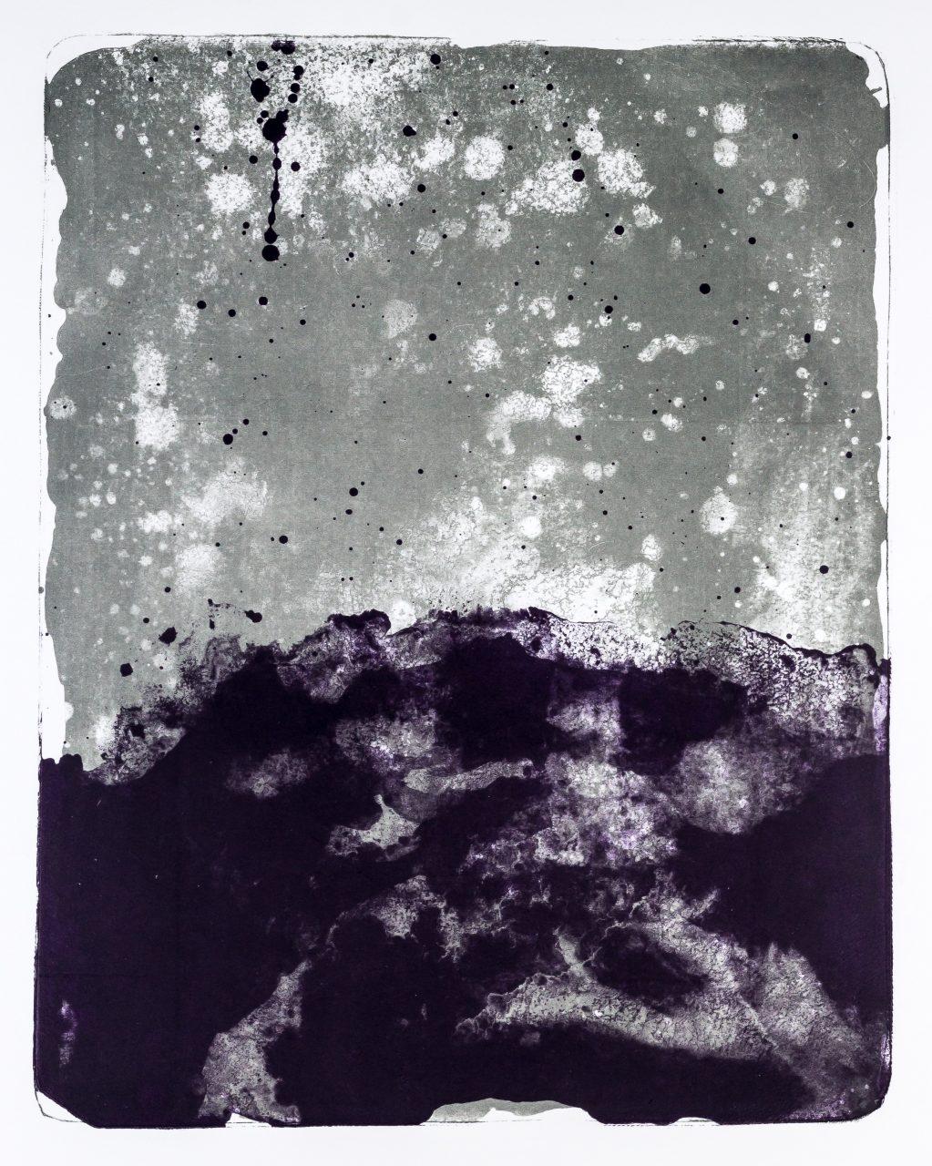 Wald X(X)-XIV, 2015, color lithograph, unique, 50x40 cm