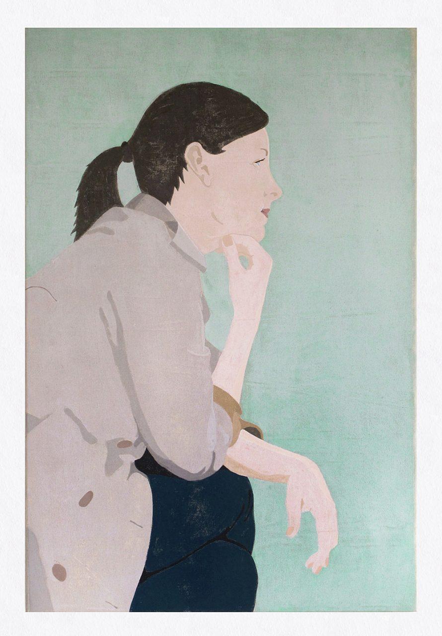 Tanja, 2017, 80 x 120 cm, stencilprint on canvas