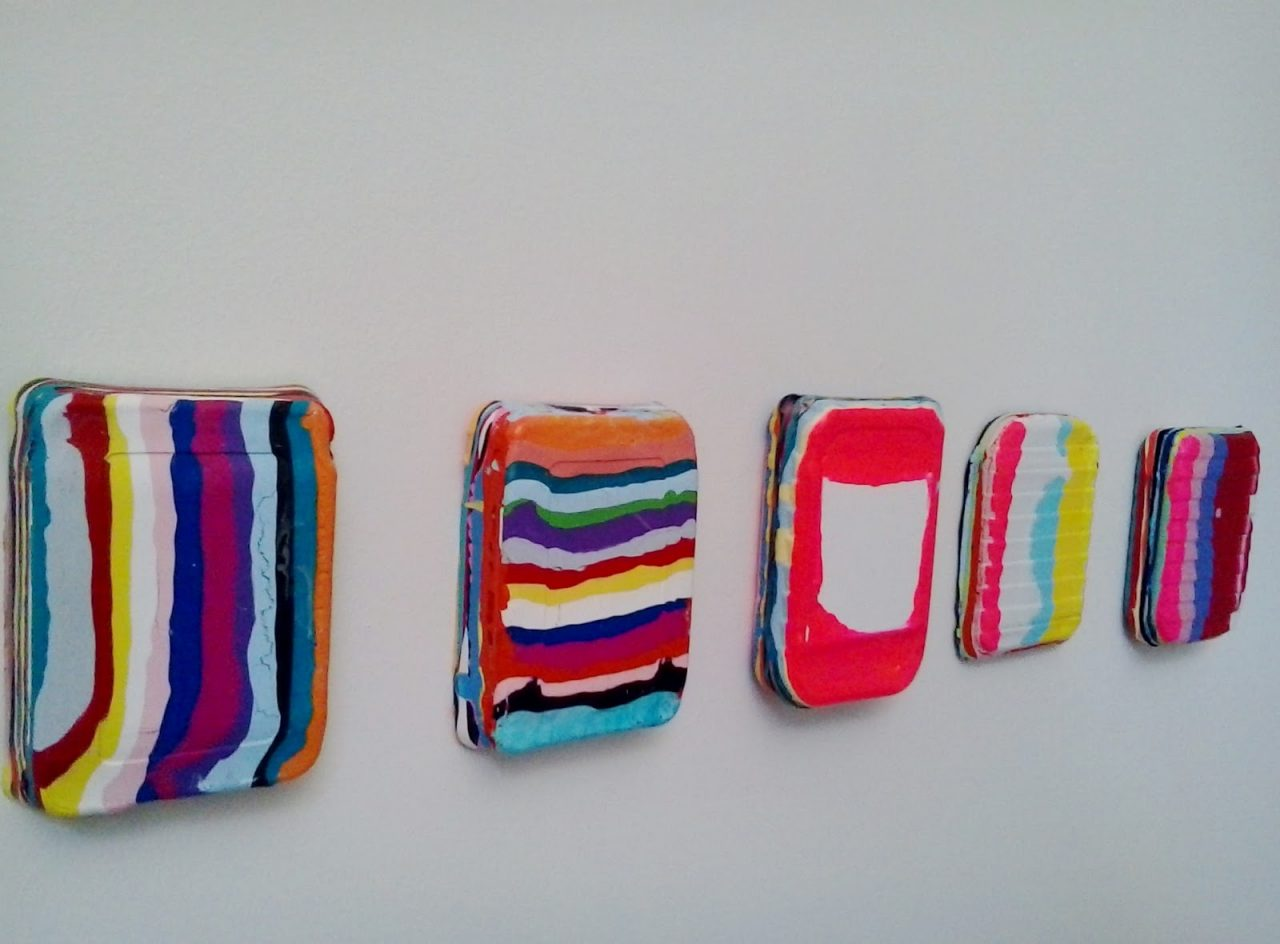 Works (2017),, acrylic and medium on canvas