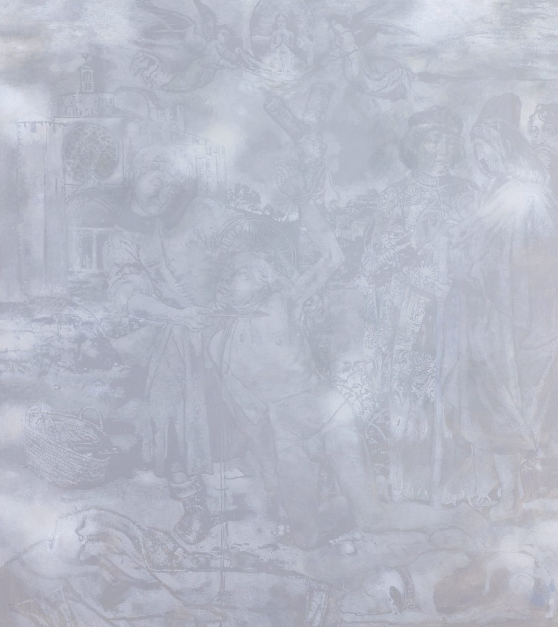"""silver surfer"", 2016, acrylic on canvas, 190 x 170 cm"