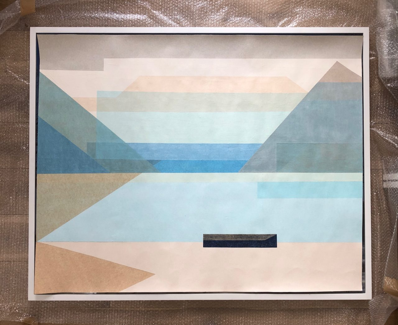 The Bay of Uri 88x110cm paper on paper 2018