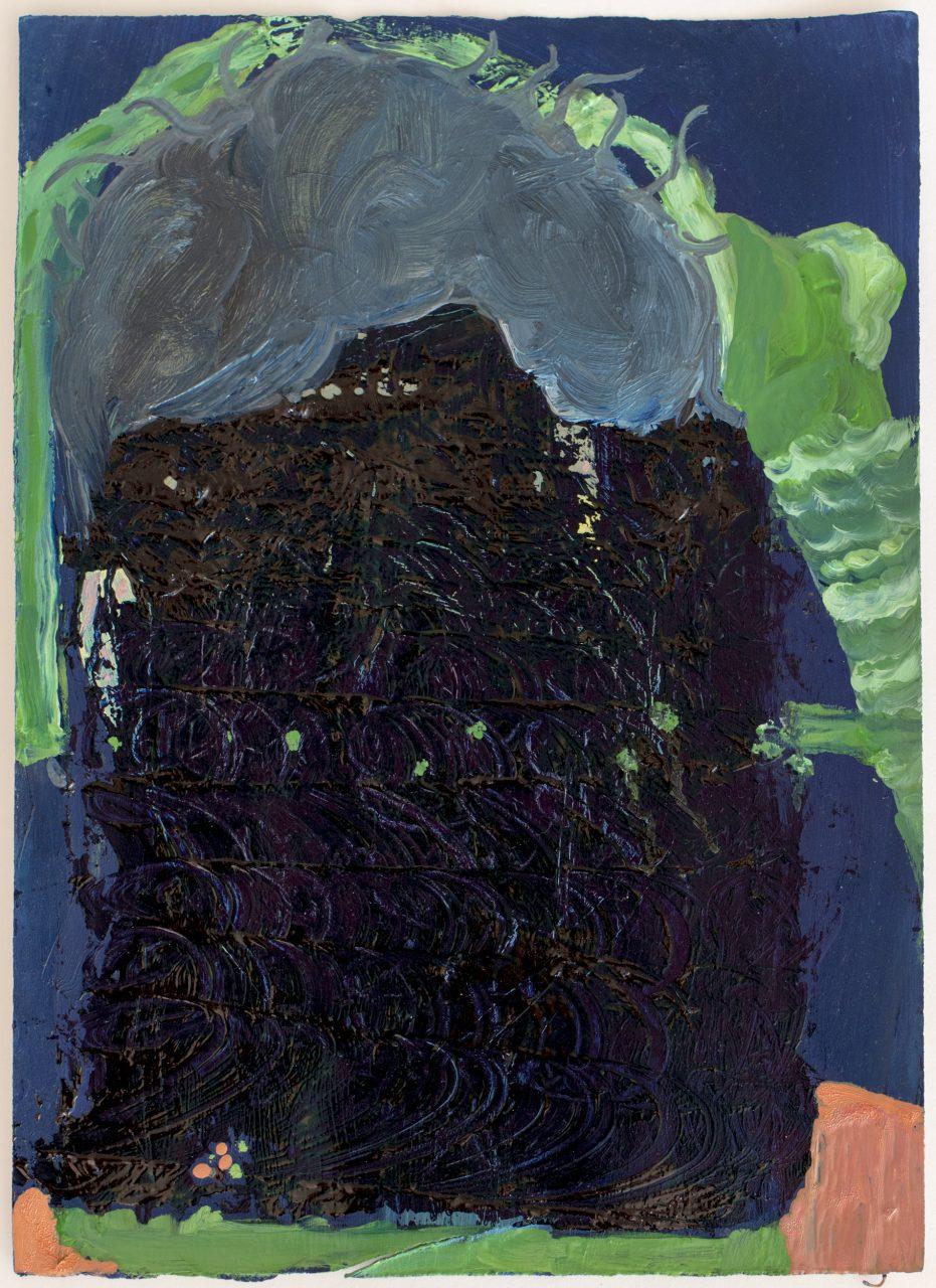 parisian veil, 2017, oil on paper, 29,6 x 21,3 cm