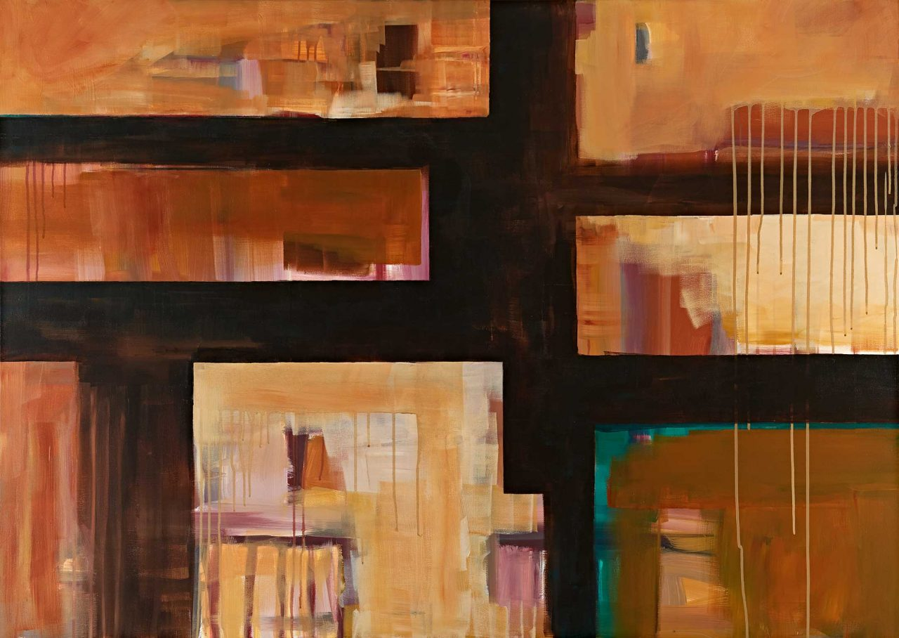 Wo Milch und Honig fließt, acrylic on canvas, 100x140cm, 2018