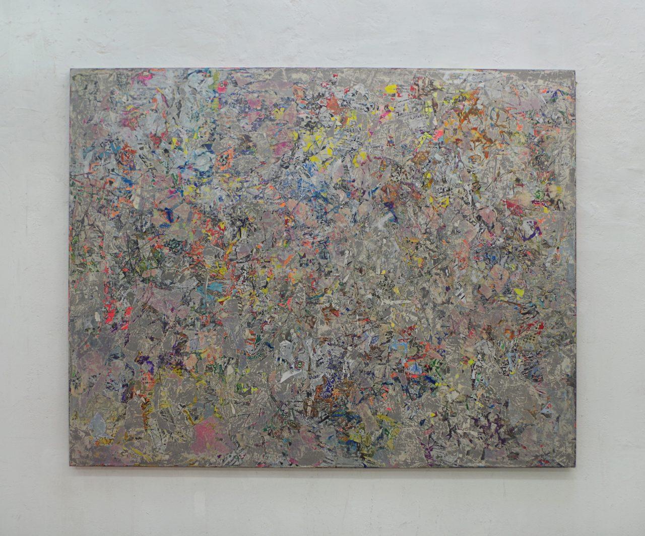 2018, Acryl, Spraypaint, Papier, Leinwand, Keilrahmen 180cm x 220cm