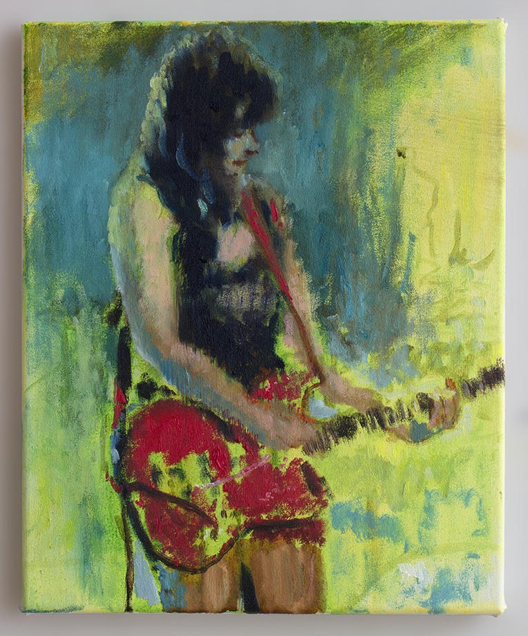 Belinda 2018 - 37 x 30cm, oil and acylic on canvs