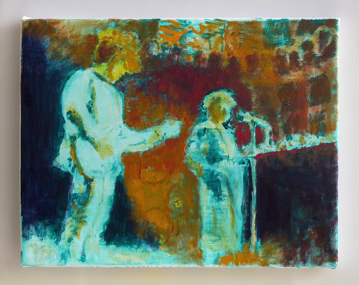 Cocteau Twins 2018 - 25 x 32cm, oil and acrylic on canvas