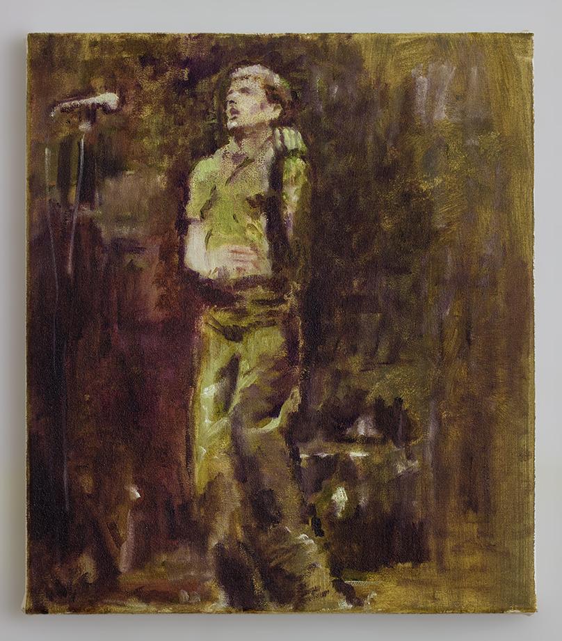 Ian 3 2018 - 35 x 30cm, oil and acrylic on canvas