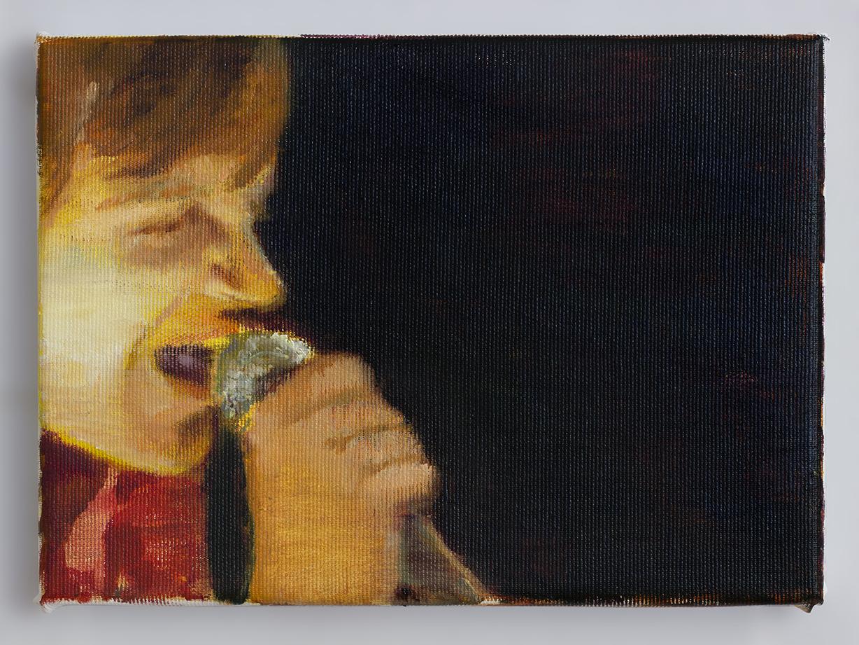 Mark E.Smith 2 2018 - 18 x 24cm, oil and acrylic on canvas