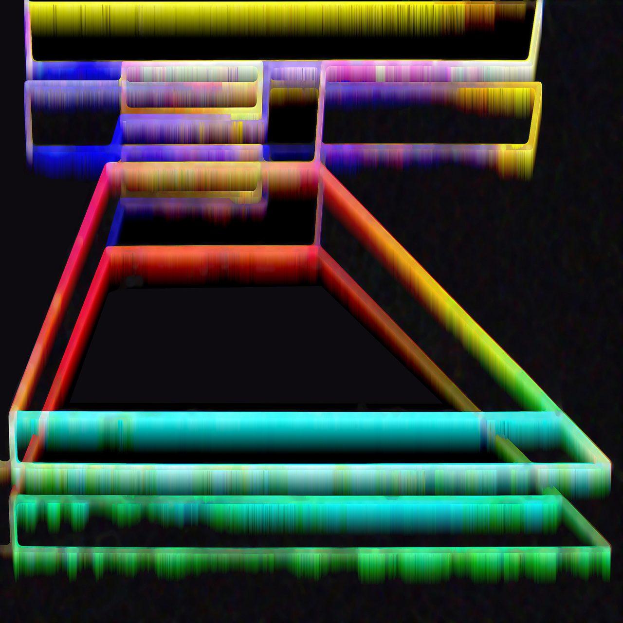 Raumordnung, aus der Reihe Bildcode, Experimental_Fine_Art_Photography, 2017, Colorpigment on Aludibond, Diasec, 20 x 20 cm