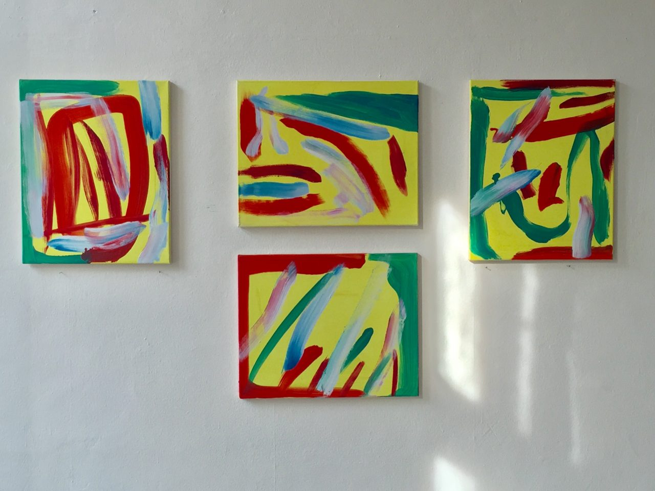 4 Bilder, je 50 x 40 cm, 2018