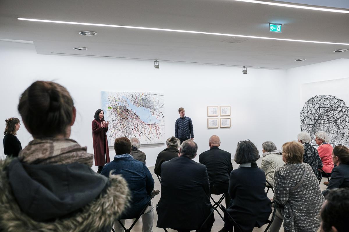 Künstlergespräch mit Renata  Jaworska & Prof. Dr. Robert Fleck im Museum Ratingen