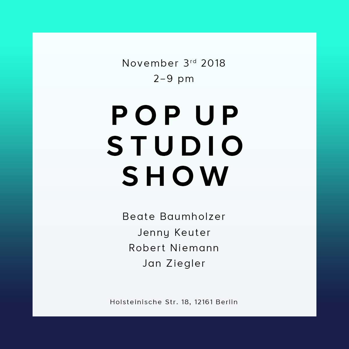 POP UP STUDIO SHOW