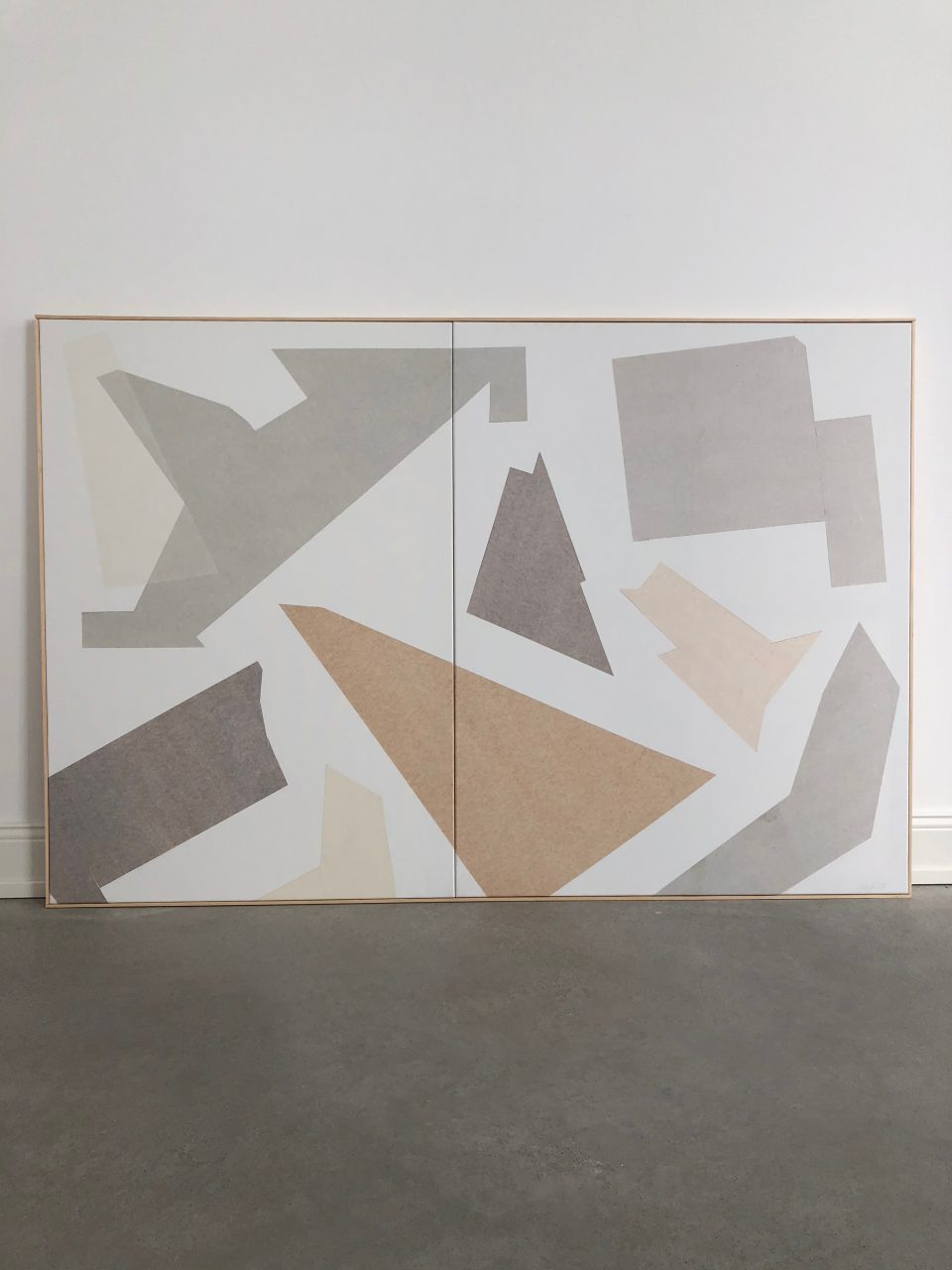 Puzzle 4, diptych, 100x160 cm, paper on canvas, 2018