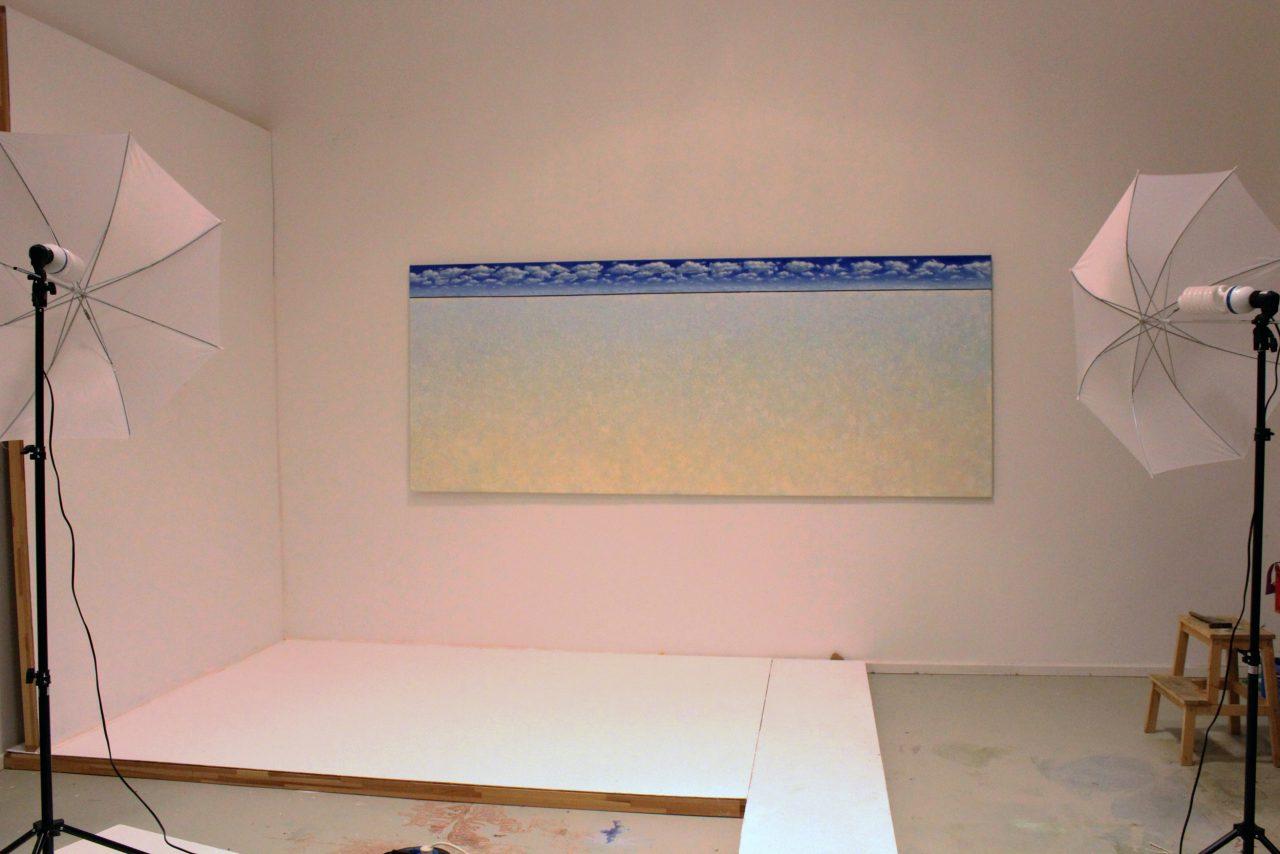 Amrum, 2018, oil on canvas, 300 x 120 cm