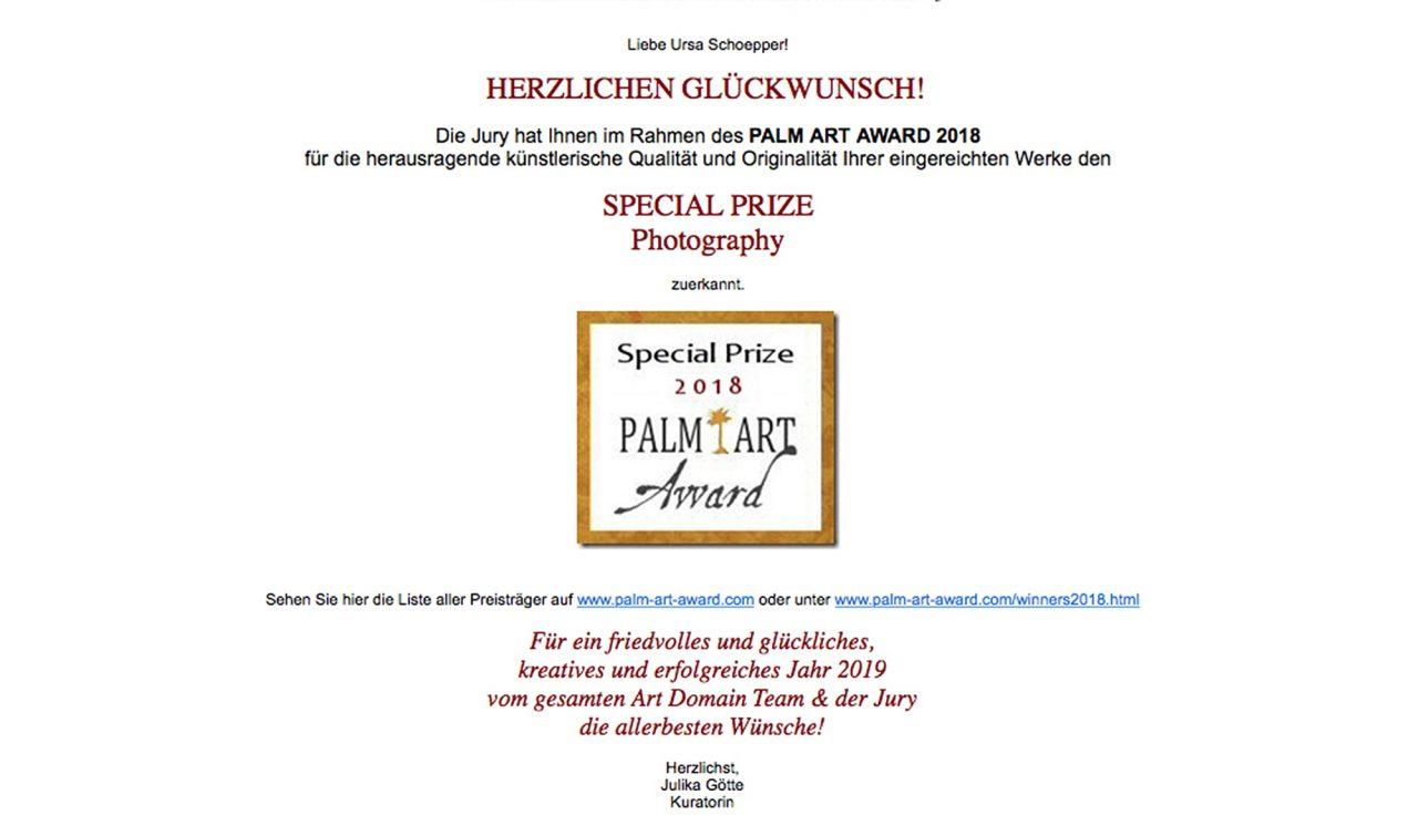 Palm Award 2018 Special Price