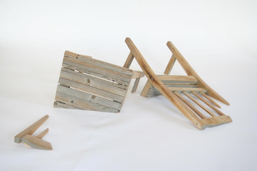 """Treibgut"", sculpture, wood, 80x 120x35 cm"
