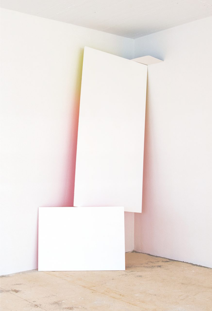 Untitled (Painting after R.S.), Paint on 3 wooden panels, Dimensions variable, 2016