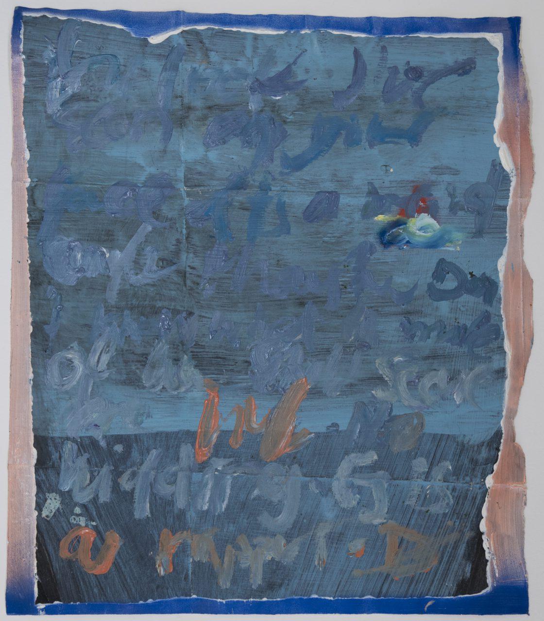 Text JG, 2017, oil on paper, 36 x 30 cm